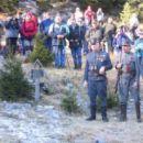 Guard of honour at the Hungarian cross