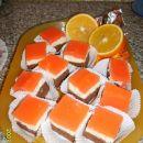 pomarančno-skutne kocke
