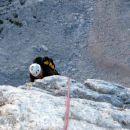 uživaško plezanje v strmi skali