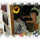 10.7.07 Gaja prvikrat pri frizerju