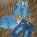 Jeans hlače in brezrokavnik HM in KIK