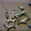 morska usedlina ogrlica in uhani iz fima  ni na voljo