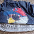Majica GAP z orlom in napisom in sv. sive bermude Zara