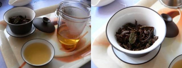Drugi preliv:  Čajni listi so se že odpirali, čaj je zaživel v polnem okusu.