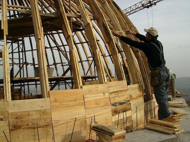 Radovi na velikoj kupoli - foto