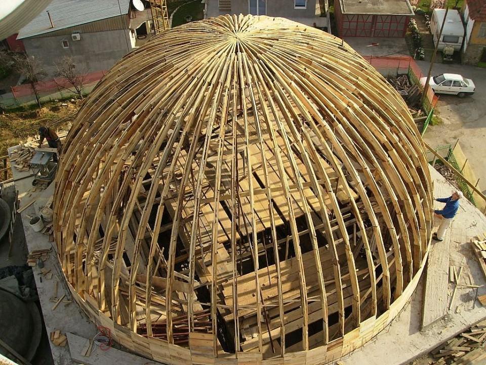 Radovi na velikoj kupoli - foto povečava