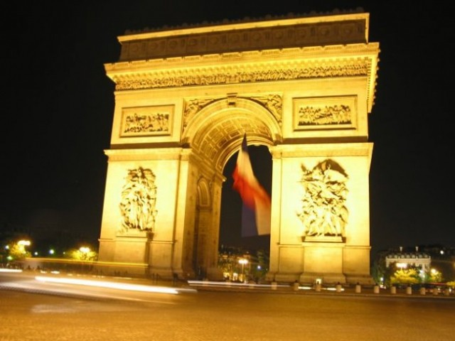Paris: Arc De Triumpfe - noću 2