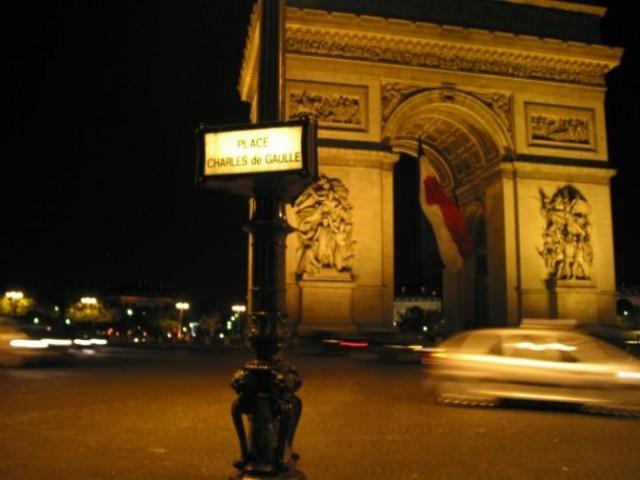 Paris: Arc De Triumpfe - noću