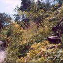 Nezakonito - na črno zgrajena  cesta, ki jo še vedno koristijo vikendaši v Hramšah