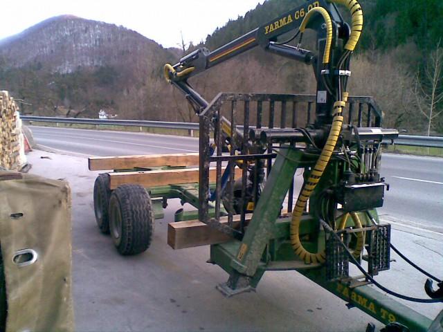 Gozdarska prikolica farm 8 ton