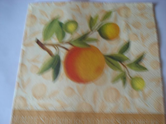 Servetki-gobe, zelišča, sadje - foto