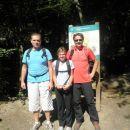 Božo, Anja in jaz pred startom
