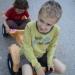 Patrik i Jana neki dan, voze se u Patrkovom starom traktoru :)