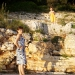 Jana se penje na stijenu, ja stražarim ;)