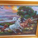 Gobelin z motivom konjev