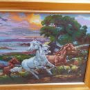 Gobelin konji...natančno izdelan in okvirjen..cena po dogovoru