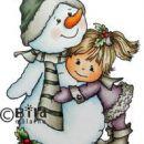 BILDMALARNA -SNOWMAN HUGS