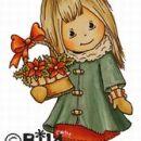 BILDMALARNA - CHRISTMAS FLOWER BASKET