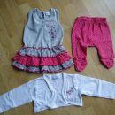 Komplet bolero, oblekica in pajkice št. 80; 10 €