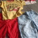 dolga majica + kapri hlače 4-5 (lahko tudi do 6 let)