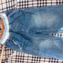 Kavbojke hlače z elastiko v pasu