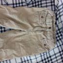 Žametne podložene hlače, spodaj zgoraj elastika