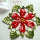 kvačkan prtiček Božična zvezda