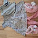 Oblekica,jopica,žabice,copatki št.62 (7€)