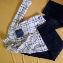 Komlet kavbojke s oliver 116 in srajčka zara 116 15€