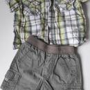 HM srajčka, 80 cm cm, platnene kratke hlače, 74, komplet 5 evrov