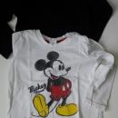 Majčka Mickey, 9-12 mesecev, 80 cm, okaidi majčka 86 cm / 2 leti, komplet 4 evre