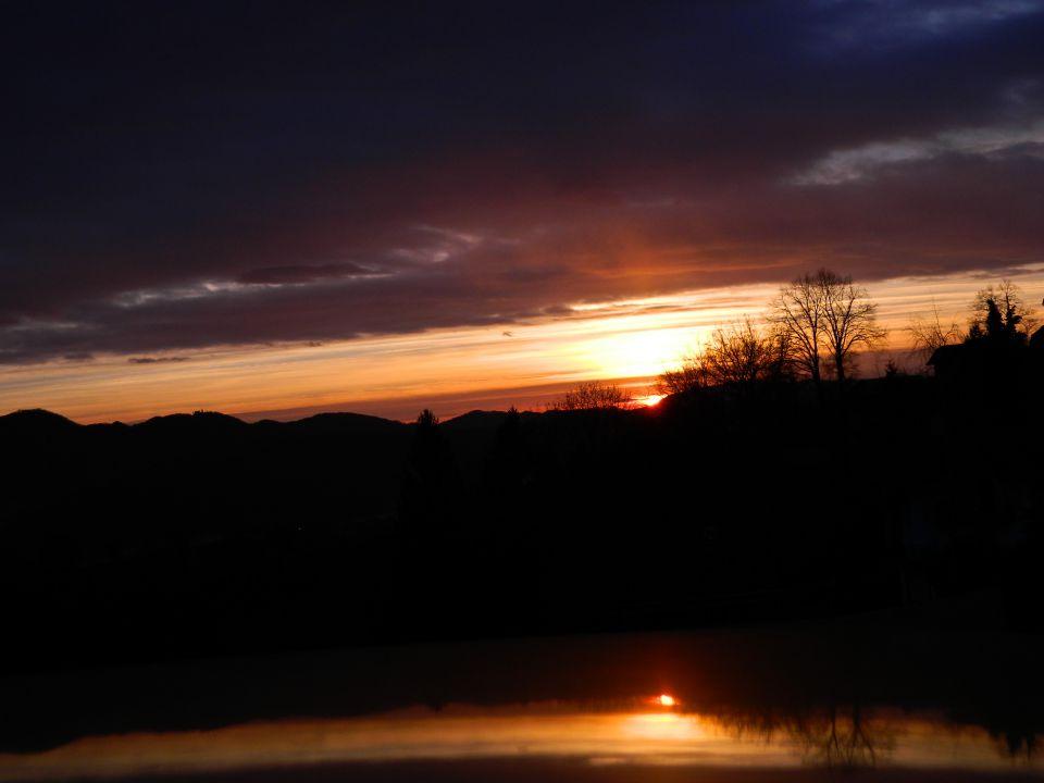 Sončni zahod - foto povečava