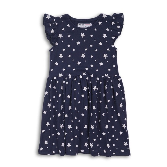Dekliška oblekica temno modra