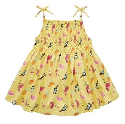 Dekliška oblekica rumena
