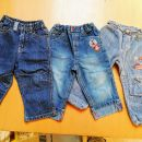 kavbojke, hlače št. 74 - 80 = 2 eur kos