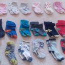 Komplet nogavic, nogavičk, 1-2 leti, 19-22