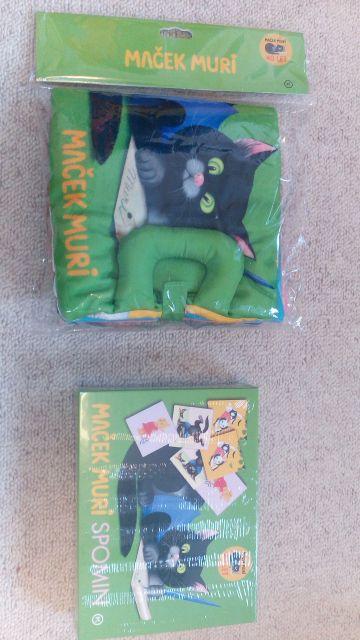 Maček muri, tekstilna knjigica, 15 eur, spomin, 3 eur