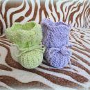 Čipkasti pleteni copatki