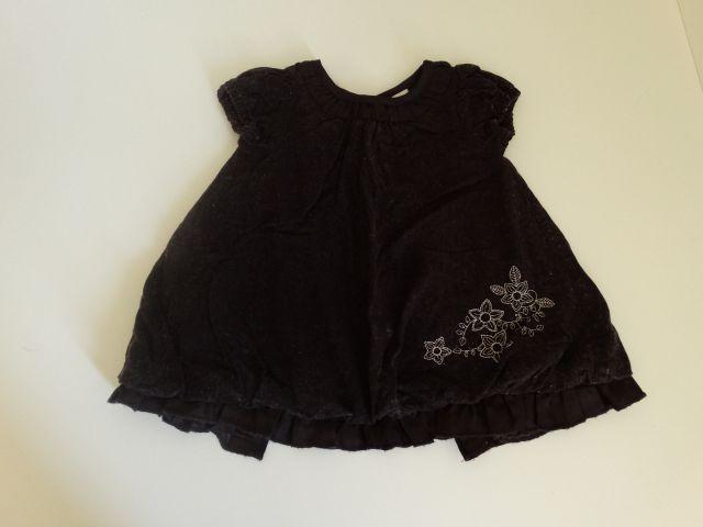 Žametna oblekica C&A, št. 62 - 6 EUR