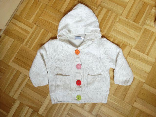 Podložena pletena jopica, št. 62/68 - 7 EUR
