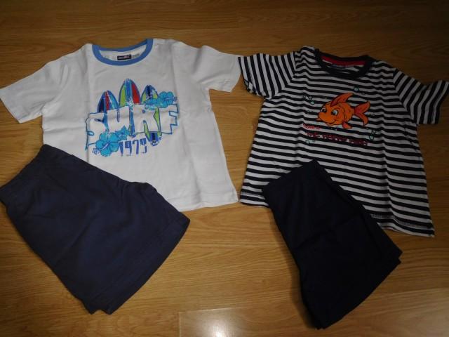 2x pižama 110/116 - 5 eur
