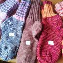 ročno pletene volnene nogavice