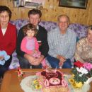 Grandparents at Katja's 2nd B-day cake