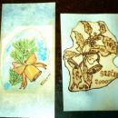 Pirograf in suhe akvarelne (svinčniki) barve