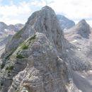 Zavarovani grebenski del na Visoko Vrbanovo špico (najlepši del poti)