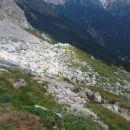 Pogled od Zavetišča pod Špičkom v dolino