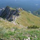 Pogled z vrha Viševnika proti Pokljuki.