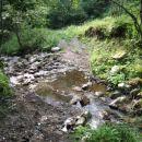 In gremo čez potok Lobnica.