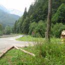 Tu se pot odcepi od glavne ceste na Jezersko