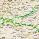 Okviren zemljevid 1200 km poti, ki sva jo prevozila v dveh dneh.